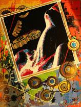 """love dreams of a machine"" / 80 x 100 x 5 / acryl auf leinwand-holzrahmen / preis auf anfrage"