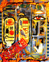 hieroglyphen fragile, 80x100x5, acryl auf leinwand-holzrahmen, konserviert, preis auf anfrage