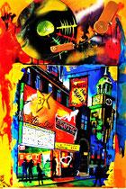 """beatles at STAR-CLUB/S.Pauli-hamburg/1962"" / collage, holz, v2A, venyl, acryl, konserviert/ not available"
