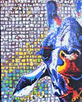 """""""smiling cameloparadalis"""" (Giraffe)/80x100x6/acryl auf leinwandholzrahmen/preis auf anfrage"""