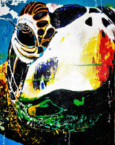 """""""miss turtles`catwalk at levera bay / grenada / caribic islands / 80 x 100 x 5 / acryl / not available"""
