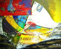 """""""ultima poca liberta""""/""""letzte kleine freiheit"""", 75 x 60, acryl auf leinwandrahmen, glanzkonserviert"""