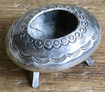 "5523 Navajo Ingot Silver Salt Dish c.1920-30 2x1.5x1"" $150"