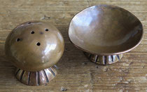 "5291 Navajo Copper Salt and Pepper c.1930 .75x1.5"", 1x1.125"" $200"