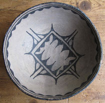 "1136 cochiti stew bowl c.1900 7.25x3"" $750"