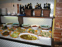 Köstliches Vorspeisenbuffet