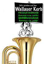 Solange es die Wallauer Zeltkerb gibt, die Ländchesmusikanten sind von anfang an dabei.