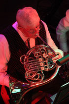 Immer sehr engagiert Manfred Lommatzsch nicht nur am Horn.