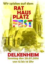 Auf dem Rathausplatzfest spielten wir jetzt schon zum 3. mal.