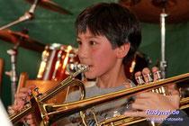 Auch die jungen Trompeter hatten ihr Solo.