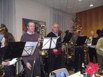 ...und ein kleines Konzert mit bekannten Weihnachtsliedern.