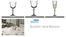 Bicchieri serie Barocco