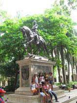 Simon Bolivar sagte Cartagena vom Mutterland Spanien los