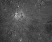 Cratère Copernicus 93x93 km, Erastosthene 58x58 km, Reinhold 48x48 km