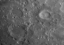 Cratères Longomontanus 146x146 km, Wilhelm 108x108 km, Tycho 86x86 km,