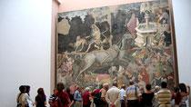 """"""" Triomphe de la Mort """", fresque en 4 morceaux du milieu du 15è"""