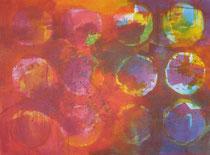 Varanasi 2007  Acryl auf Leinen 120 x 160 cm