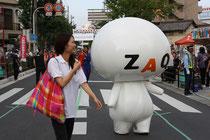 「ZAQと一緒に」大阪・八尾河内音頭まつりパレード(藤田良武)