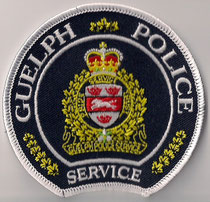 Guelph Police Service - Constable / Patrol  (Ontario)  (Actuel / Current)  (Neuf / New = 1x)  (Usagé / Used = 1x)