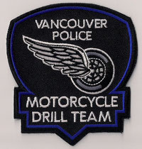 Vancouver Police - Motorcycle Drill Team  (Roue côté droit / Wheel right side)  (Actuel / Current)  (Neuf / New)  ####  ÉCHANGE SPÉCIAL / SPECIAL TRADE  ####  1x