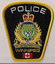 Police Winnipeg  (Manitoba)  (Avec drapeau du Canada / With Canada flag)  (2010 - )  (Actuel / Current)  (Usagé en parfait état / Used in perfect condition)  1x