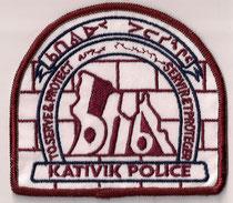 (5ème / 5th)  Kativik Police  (Inuit)  (Format moyen / Medium size)  (Ancien modèle / Last model)  (Usagé / Used)  2x