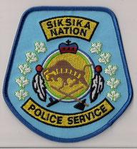 Siksika Nation - Police Service  (Alberta)  (Version 4)  (Gros modèle / Big model)  (Contour bleu / Blue border)  (Ancien / Obsolete)  (Neuf / New)  1x