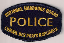 National Harbours Board - Police - Conseil des Ports Nationaux  (Variance 2)  (English / Anglais)  (Dissous / Disbanded)  (Usagé / Used)  1x