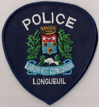 Police Longueuil  (Variance 1)  (Contour & fond bleu marin / Navy blue background & border)  (Ancien / Obsolete)  (Neuf / New)  1x