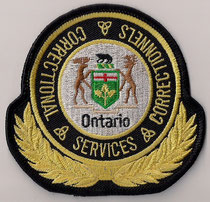 ( Modèle #1  /  Model #1 )  Ontario - Correctional Services Correctionnels  (Gros format / Big size)  (Actuel / Current)  (Neuf / New)  1x