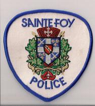 Sainte Foy Police  (Modèle blanc / White model)  (Lettres & Contour bleu / Blue border & lettring)  (Defunct / Obsolete)  (Maintenant / Now = Ville de Québec Police)  (Usagé / Used)  1x