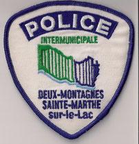 Police Intermunicipale  ( Deux-Montagnes / Sainte-Marthe sur-le-Lac)  (Obsolete)  (Usagé/Use)  1x