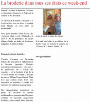 Courrier de l'ouest du 30 septembre 2014