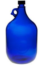 Gallone 5l blau, eine große, dekorative Flasche zum Aufbewahren von Flüssigkeiten verschiedenster Art Füllmenge ca. : 5000 ml mit Schraubverschluss