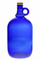 Gallone 2l blau, eine große, dekorative Flasche zum Aufbewahren von Flüssigkeiten verschiedenster Art Füllmenge ca. : 2000 ml mit Schraubverschluss
