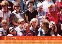 Postkarte. Auftraggeber: Kath. Sozialakademie Ö, Projekt ewec - Empowering Women to active European Citizenship
