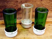 Schnapsgläser aus Flaschenhals