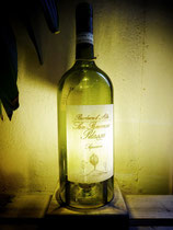 Lampe aus Weinflasche