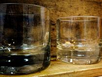Glas aus Flasche