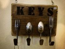 Schlüsselhalter Besteck löffel gabel
