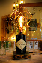 Lampe Käfig Flasche Gin Upcycling