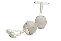 cufflinks, silver with concrete pearl