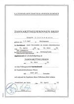 Zahnarzthelferinnen-Brief der Landeszahnärztekammer Hessen