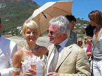 Udo und Tochter Steffi in Capetown, Südafrika