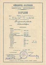 Diplom - Kaufmännisch-praktische Zahnarzthelferin