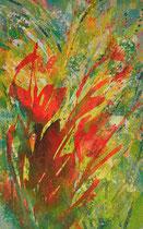 Blüten orange | 160 x 100 cm
