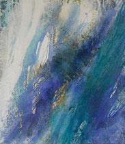Türkis abstrakt | 160 x 140 cm
