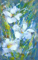 Blumen weiß 3 | 160 x 100 cm