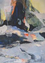 "Acryl - Rahmen 50x40 cm - ""Gletscher"""