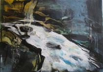 """Acryl - Rahmen -  60x80 cm - """"Wildes Wasser"""""""